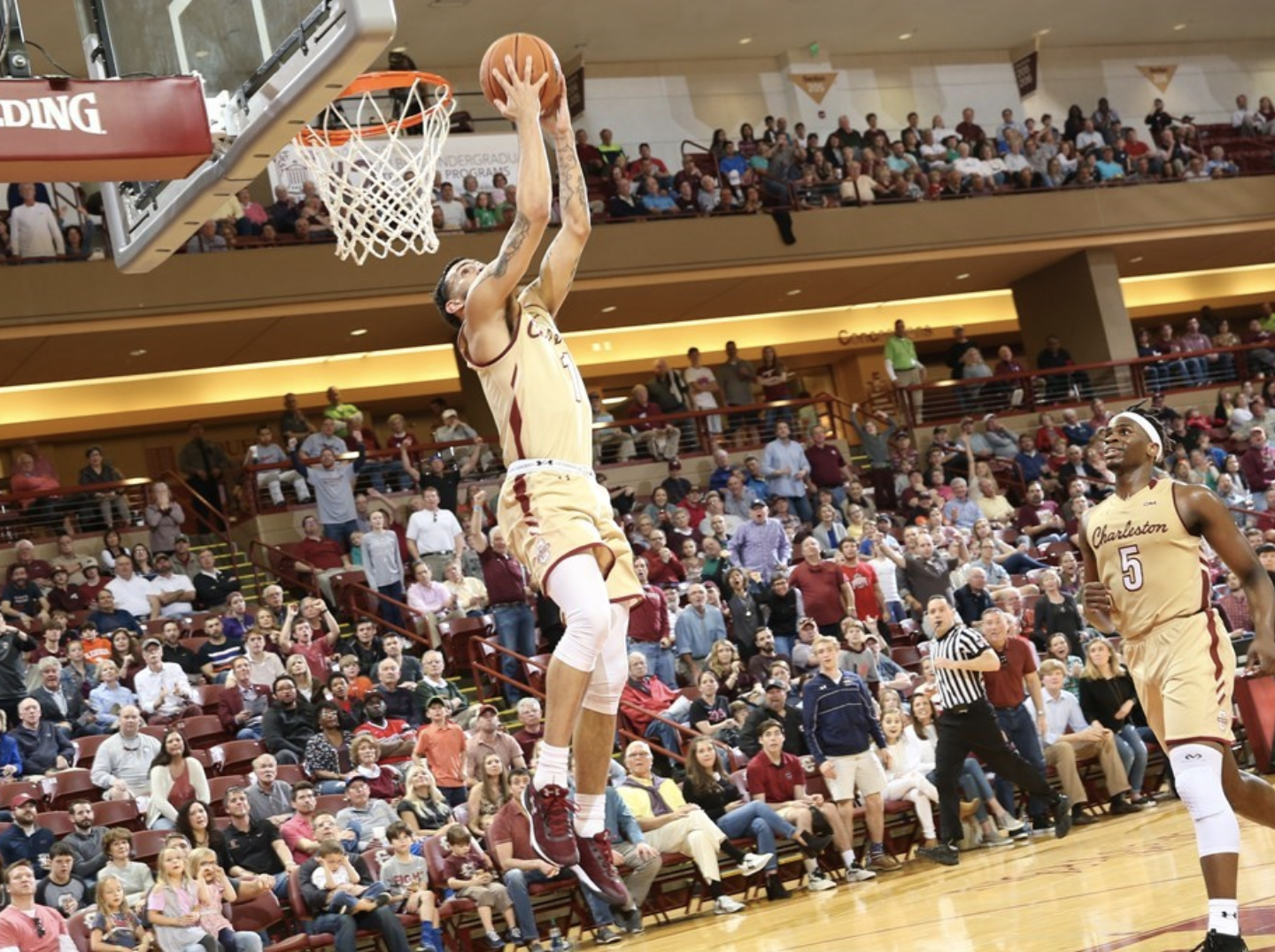CofC guard Grant Riller dunks